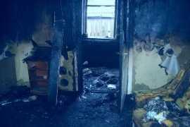 В Брянске на улице Щукина сгорел дом