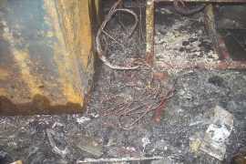 В Брянске сгорело здание на Кромской