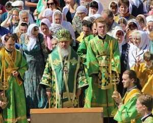 Брянцы отпраздновали в соборе День семьи, любви и верности