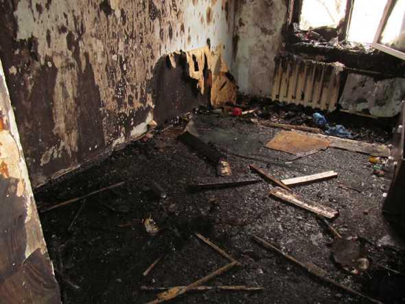 В Брянске выгорела часть квартиры