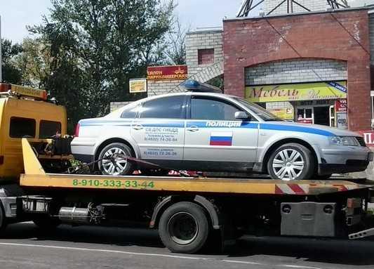 В Брянске с 8 августа автомобили будут увозить эвакуаторы