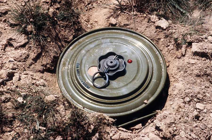 В брянской реке всплыла противотанковая мина