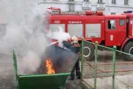 В Брянске сгорел еще один пластиковый контейнер для мусора