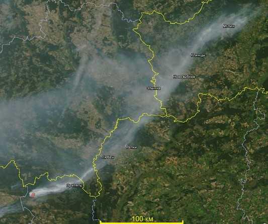 Чернобыльский дым c Украины дошел до брянского Мглина
