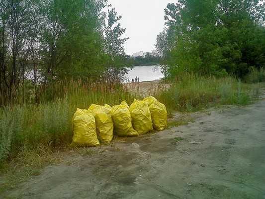 Брянские экологи вывезли с пляжа 40 мешков мусора