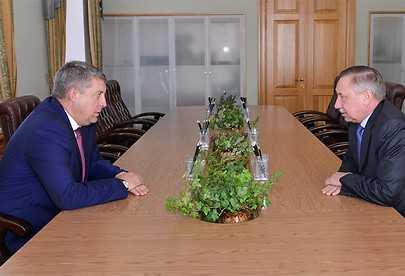 Полпред Беглов встретился с брянским главой и побывает у камвольщиков