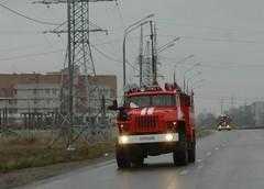 На брянской дороге загорелся полуприцеп