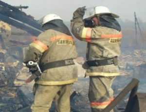 В брянском селе сгорела баня