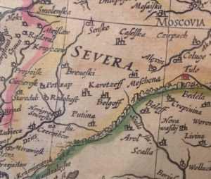 Брянск был известен европейским географам с 16 века