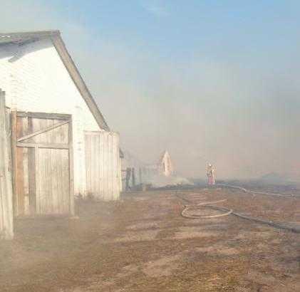 Фермеры потушили пожар в брянской деревне