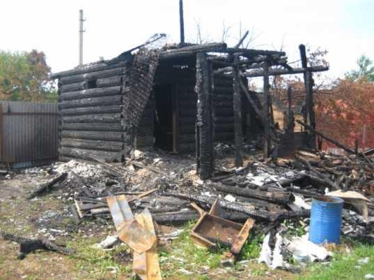 В брянском селе сгорела баня – пострадал человек
