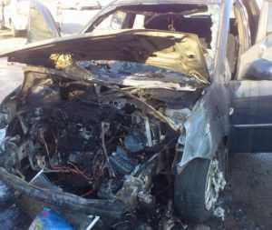 Две иномарки сгорели в Новозыбкове Брянской области