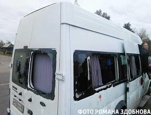 Калужских болельщиков разгромили на брянской границе (видео)