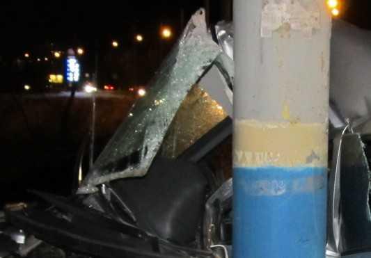 В Брянске трезвого, но резвого водителя остановил столб