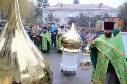 Брянский храм украсили долгожданными куполами