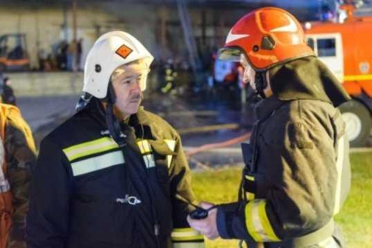 Крупный пожар на рыбном складе в Брянске полностью потушили (видео)