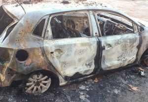 В Бежицком районе Брянска сгорел «Фольксваген»