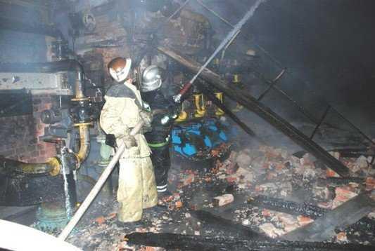 В Брянске случился пожар в котельной