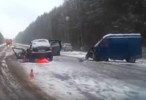 В сети появилось видео трагической катастрофы под Брянском