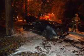 В Брянске на рассвете сгорел корейский кроссовер