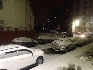 В Брянске выпал снег