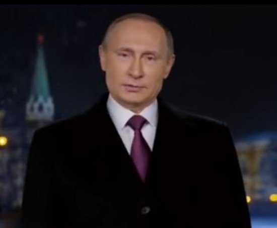 Президент в новогоднем поздравлении поднял тост за процветание России