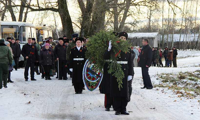В брянской деревне захоронили останки неизвестного солдата