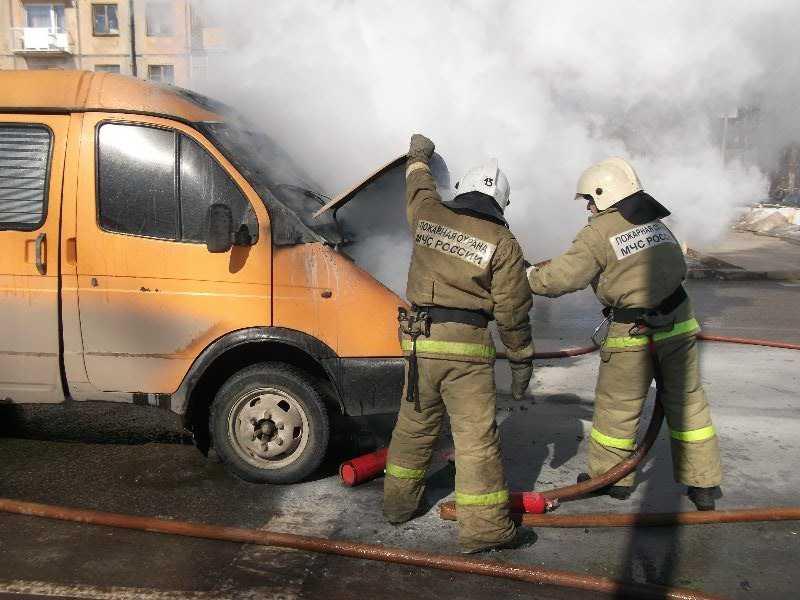 На брянской трассе сгорела «Газель»