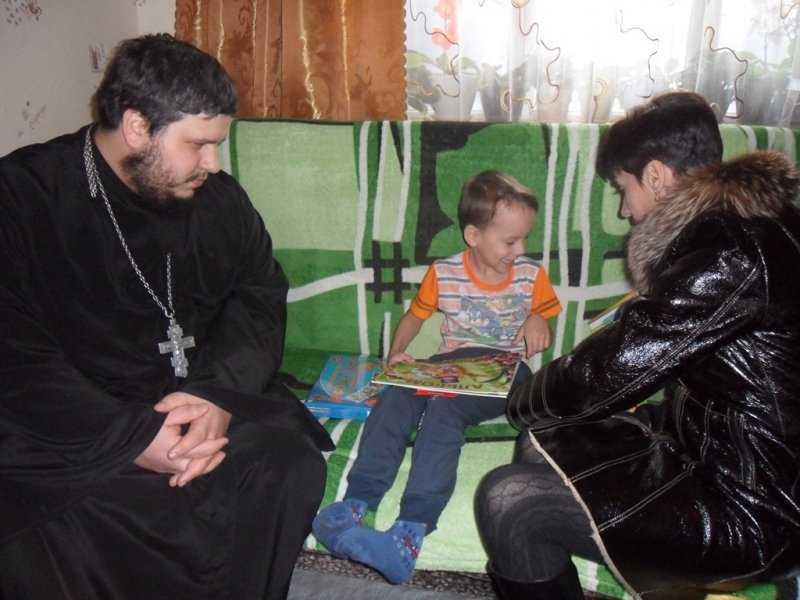 Представители Брянской Епархии посетили семьи детей-инвалидов