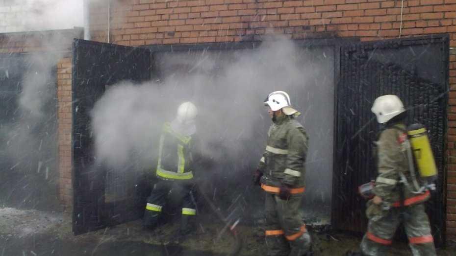 Брянские пожарные спасли от огня автомобиль