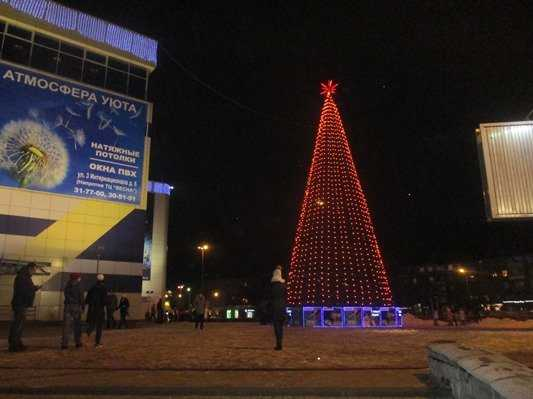 В Бежицком районе Брянска зажгли новогоднюю ёлку