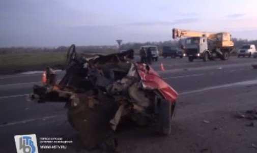 Фура брянского «Мираторга» попала в жуткую аварию под Курском (видео)