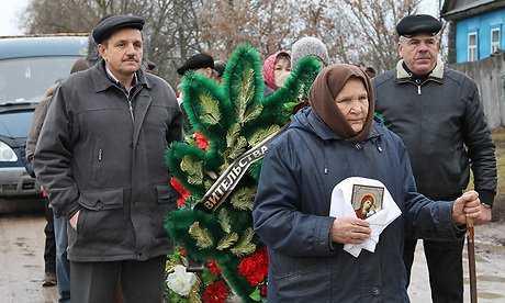 В брянской Карбовке захоронили останки воинов