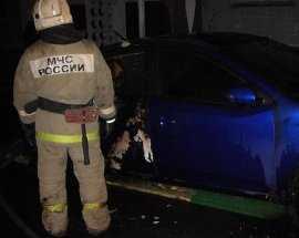 В Брянске сгорела «Тойота»