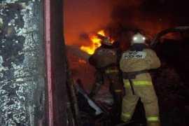В Брянске сгорел гараж