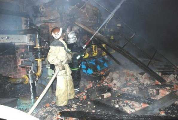 В брянском райцентре произошел крупный пожар