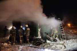 В Брянске сгорел дачный дом