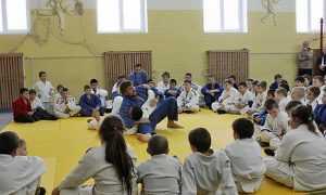 Брянские богатыри Минаковы показали мальчишкам приемы борьбы