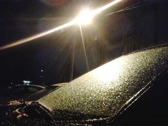 Циклон превратил Брянск в ледяную сказку