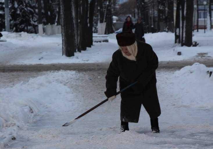 На весь Брянск нашелся только один сразившийся со снегом энтузиаст