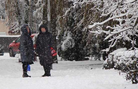 С главных дорог Брянска снег очистили – переулки и дворы заметены