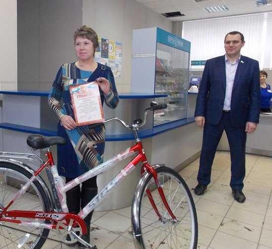 За успехи в подписке брянским почтальонам подарили велосипеды