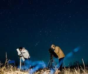 Очарованные звездным небом брянцы поймали свою комету