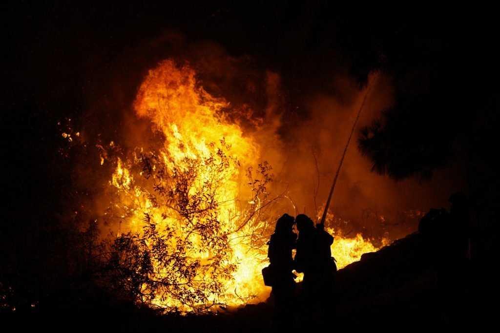В Брянске сгорела баня