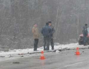 В сети появилось видео с места автокатастрофы под Брянском
