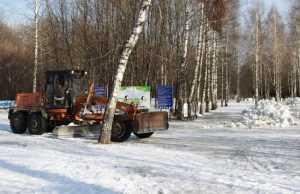 Для брянской «Лыжни России» 60 грузовиков привезли снег