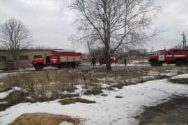 В брянском райцентре на складе случился пожар