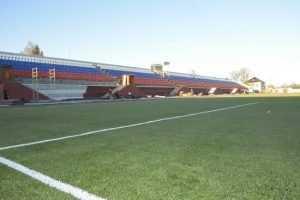 В Трубчевске открыли обновленный стадион – к брянцам поехали и украинцы