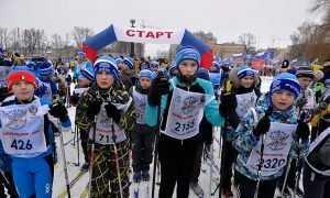 На гонку «Лыжня России» вышли 5500 брянцев