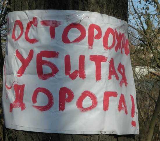 Активисты ЛДПР бросили вызов «бездне» возле брянского УГИБДД